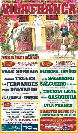Em direto no Taurodromo.com a Corrida Mista em Vila Franca de Xira