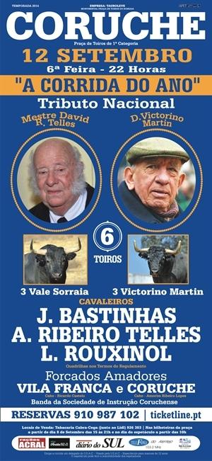 Tributo Nacional ao Mestre David Ribeiro Telles e a D. Victorino Martín