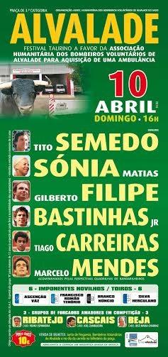 Festival de Alvalade do Sado a 10 de Abril