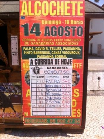 Corrida de Toiros XXXIV Concurso de Ganadarias Associadas de Alcochete