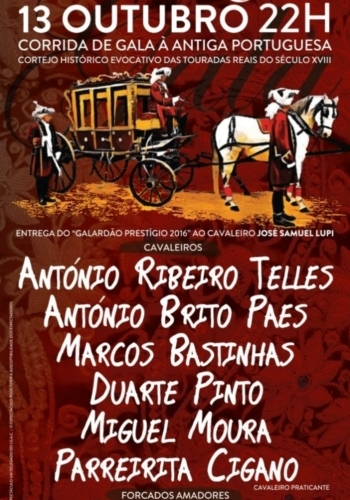 Corrida de Gala à Antiga Portuguesa com alguns motivos de interesse