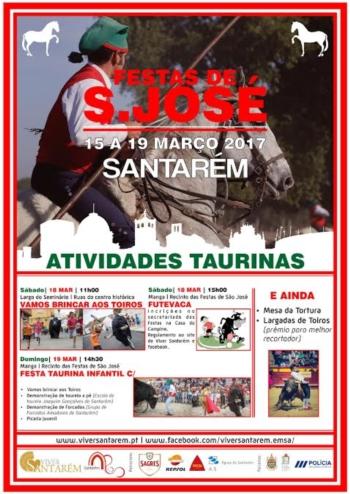 Atividades Taurinas nas Festas de São José 2017
