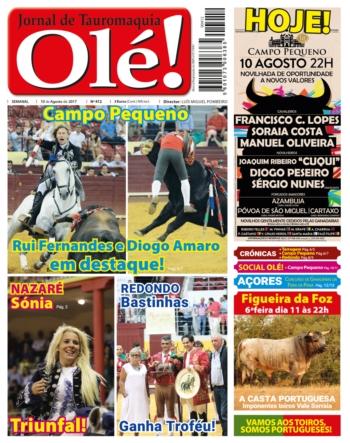 Jornal Olé! 412, hoje nas bancas