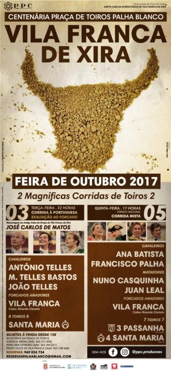 Os cartéis da feira de Outubro em Vila Franca