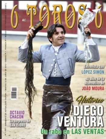 Maestro Moura, em grande destaque, na Revista 6Toros6