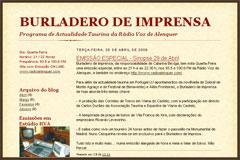 Burladero de Imprensa dedicado à votação da Sorte de Varas nos Açores
