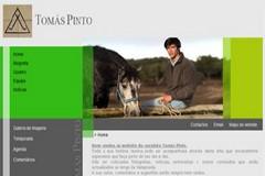 Tomás Pinto com site na internet