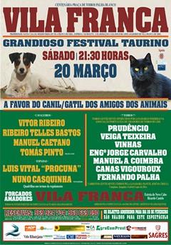 Cartel do Festival da Liga dos Amigos dos Animais de Vila Franca