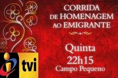 Peso dos Toiros para a Corrida do Emigrante ás 22.15h na TVI