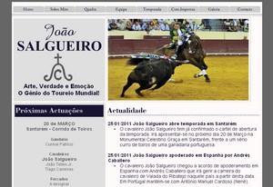 João Salgueiro lança página na internet