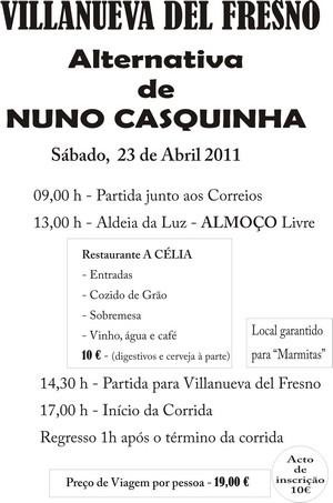 Clube Taurino Vilafranquense acompanha Casquinha na Alternativa