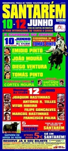 Peso dos Toiros Cortes de Moura para Santarém com inicio ás 18:00 horas