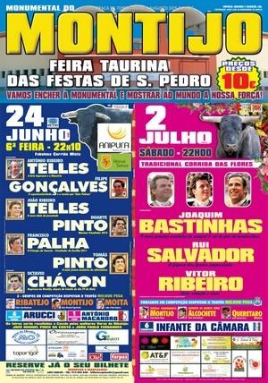Cartéis para a Feira Taurina das Festas de S. Pedro no Montijo