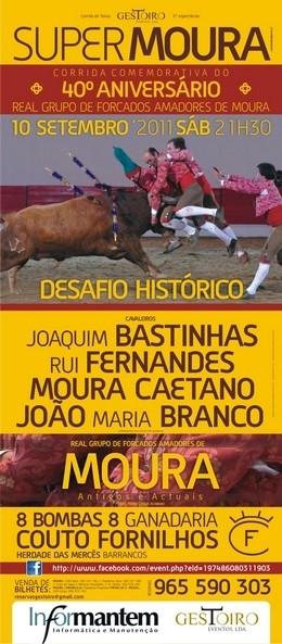Real Grupo de Moura encerra-se na sua terra com 8 toiros de Couto Fornilhos