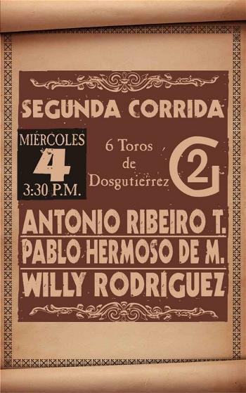 Cartaz de António Ribeiro Telles na Colômbia