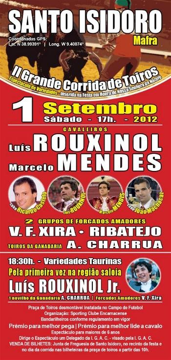 Cartaz de Santo Isidoro - Mafra, dia 1 de Setembro
