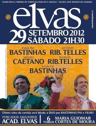 Cartaz da Tradicional Corrida de Toiros São Mateus - Elvas