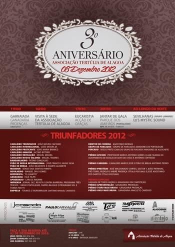 Triufadores 2012 da Associação Tertúlia de Alagoa