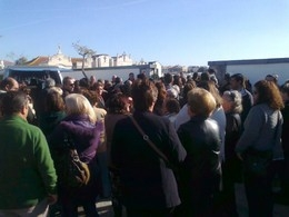 Centenas de pessoas presentes no funeral de Preciosa Perceito
