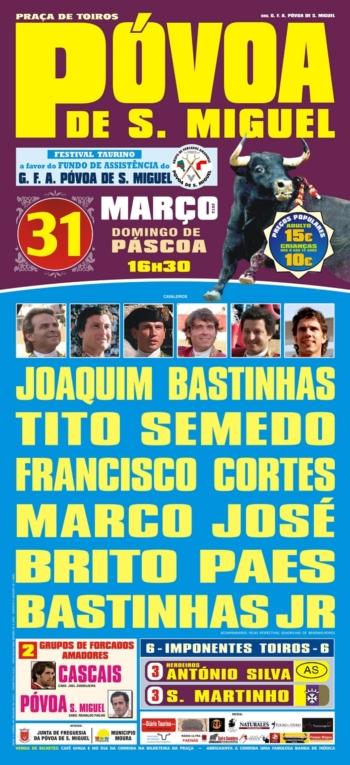 Cartaz do Festival da Póvoa de São Miguel
