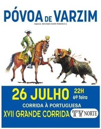 XVII Corrida TV Norte, dia 26 de Julho na Póvoa de Varzim
