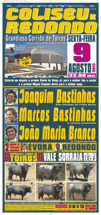 Corrida dia 9 de Agosto no Redondo