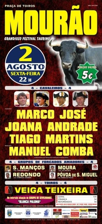 Festival Taurino em Mourão, dia 2 de Agosto