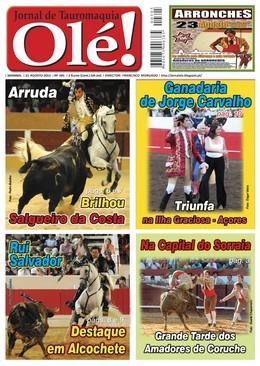 Olé! Jornal de Tauromaquia quarta-feira nas bancas
