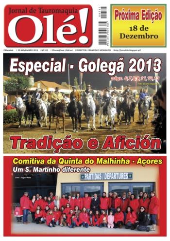Jornal Olé 315 - Nas bancas mês Novembro