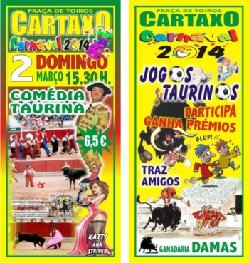 Carnaval Taurino, dia 2 de Março, no Cartaxo