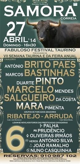 Cartaz de Samora Correia, dia 27 de Abril
