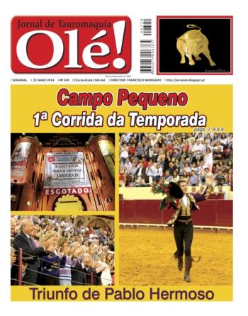 Jornal Olé nº320 - nas bancas 4ª feira dia 21 de Maio