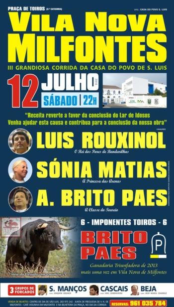 Cartaz de 12 de Julho em Vila Nova de Milfontes