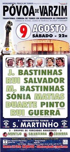 Cartaz de dia 9 de Agosto na Póvoa de Varzim