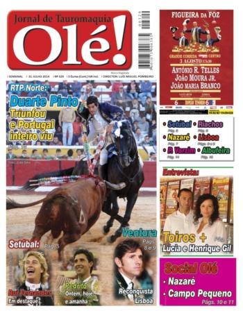 Jornal Olé nº329 amanhã nas bancas