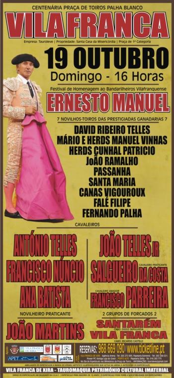 Cartaz do Festival de Homenagem ao Bandarilheiro Ernesto Manuel