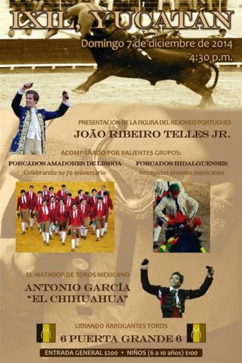 Cartaz de João Telles Jr e Amadores de Lisboa em Yucatán (México)