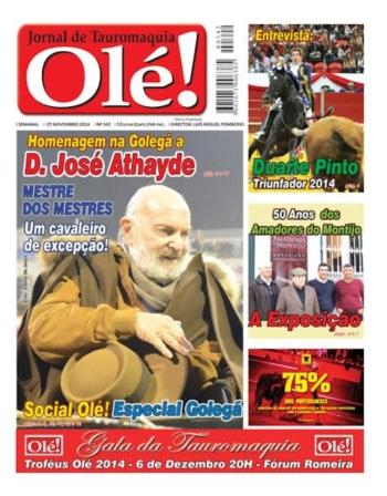 Jornal Olé 342 - Hoje nas bancas