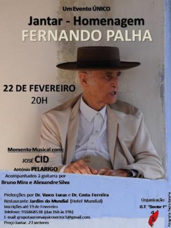 Nova data do jantar/homenagem a Fernando Palha