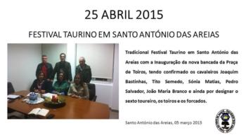 Tradicional Festival Taurino em Santo António das Areias