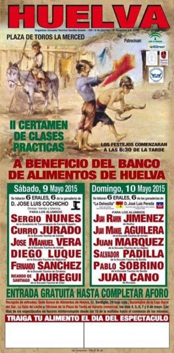 Toiros José Luís Cochicho dia 9 em Huelva