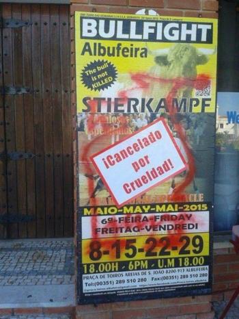 Crimes antitaurinos em Albufeira