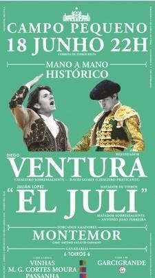 Crónica em directo da Corrida Mista-Mano a Mano Histórico Ventura/ El Juli