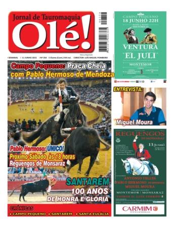 A capa do Olé nº 354 - Quinta-feira nas bancas!