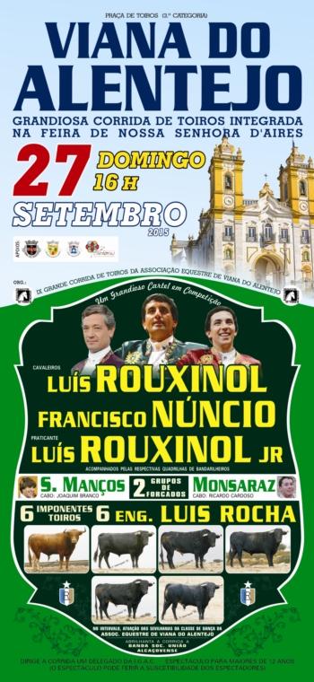 Corrida de Viana do Alentejo já tem cartaz