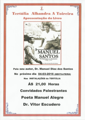 Apresentação do livro de Manuel dos Santos