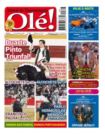 Jornal Olé 388, hoje nas bancas