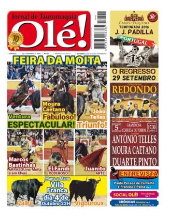 Jornal Olé 392, hoje nas bancas