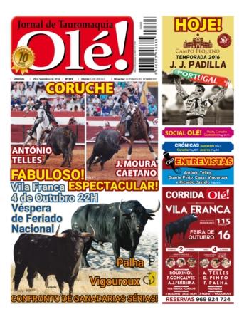 Semanário Jornal Olé edição 393 nas bancas na próxima quinta-feira