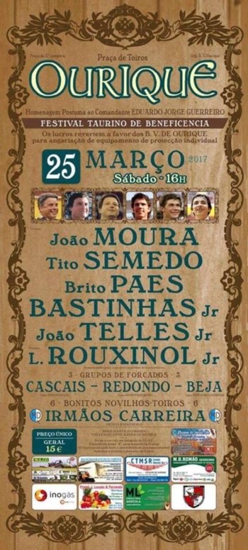 Cartaz do Festival Taurino de Ourique